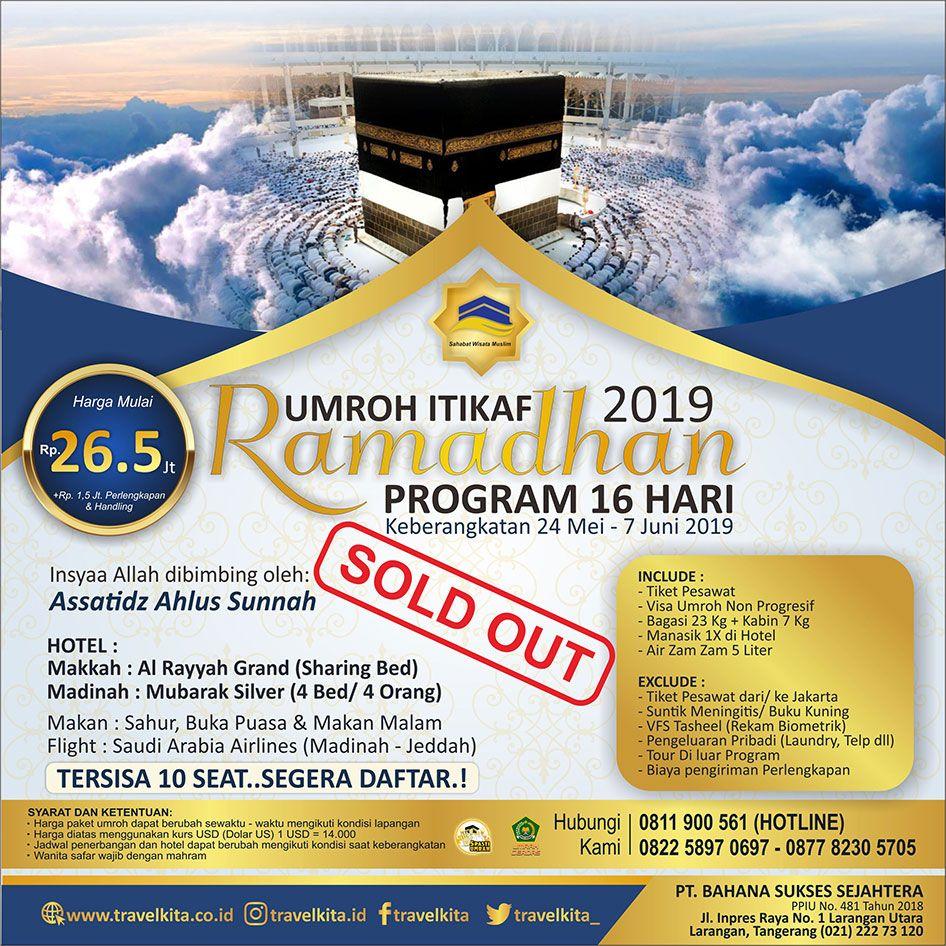 Paket Umroh Itikaf Ramadhan 2019