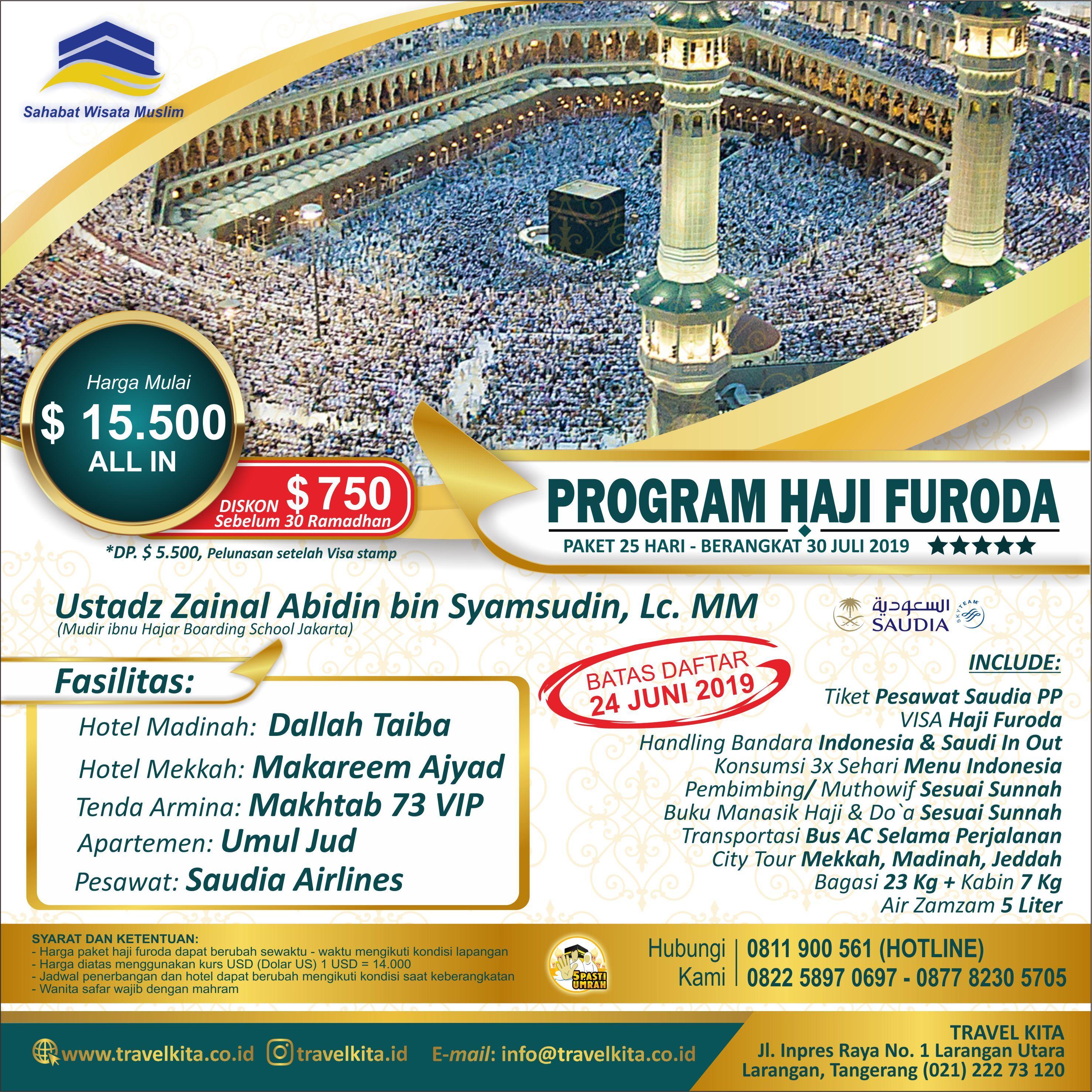 Haji Khusus Visa Furoda 1440 H