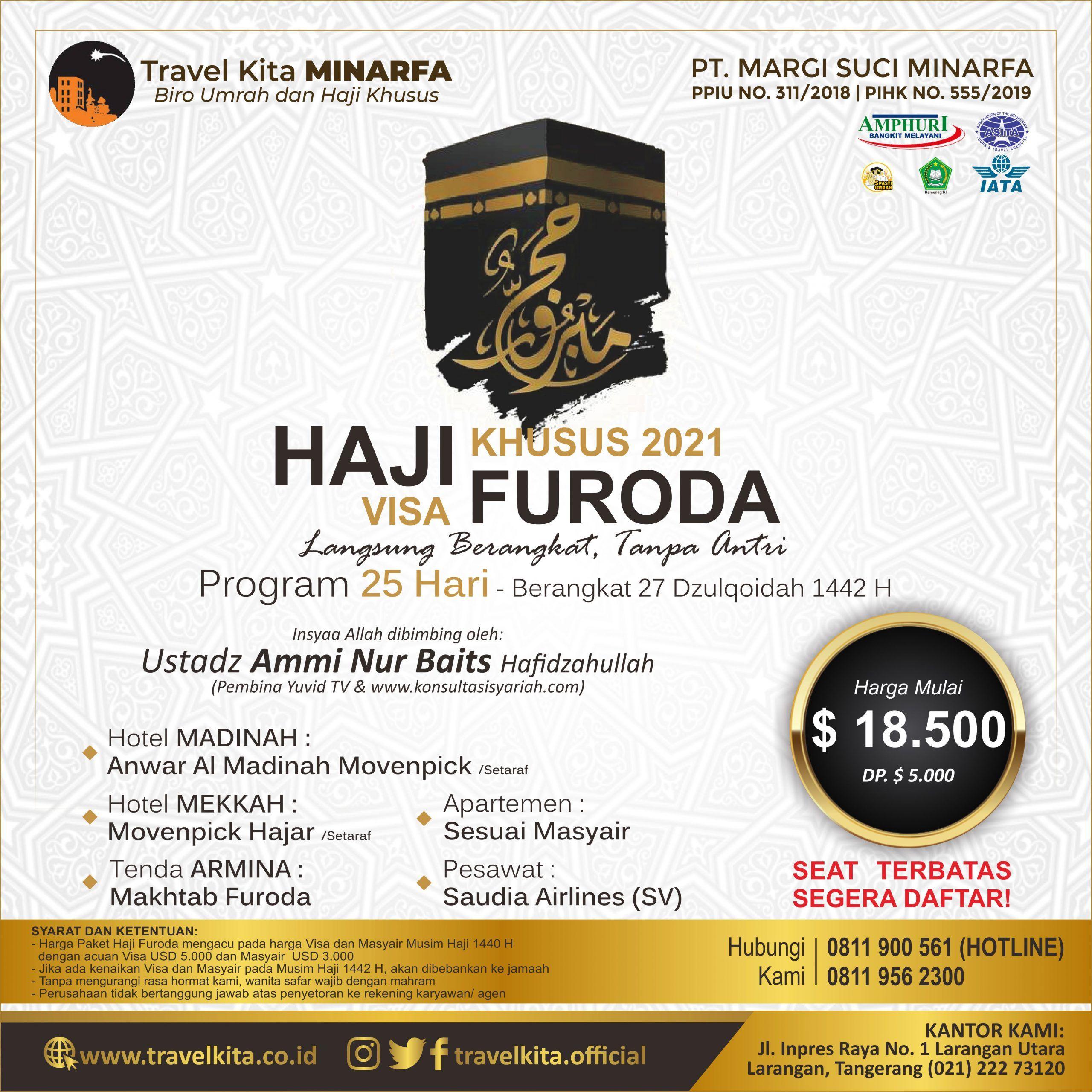 Haji Khusus Visa Furoda 1442 H
